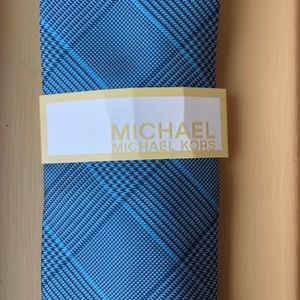 Michael Kors Blue Plaid Men's Tie New With Tags